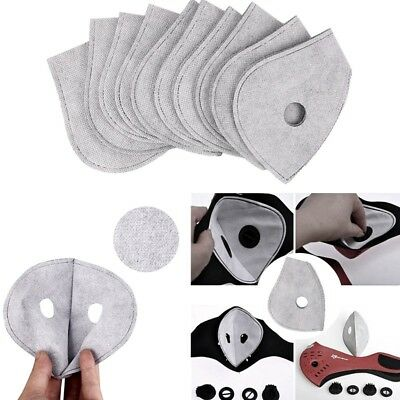 10Pcs Activated Carbon Mask Filter Best Anti Smoke Dust Air Purifying Face Mask