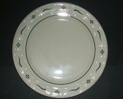"""4 Heritage Green Woven Traditions Dinnerware 10"""" Dinner Plate Longaberger NEW"""