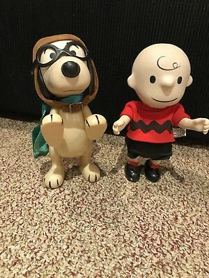 """Vintage Snoopy & Charlie Brown 7"""" Dolls From The 1960's"""