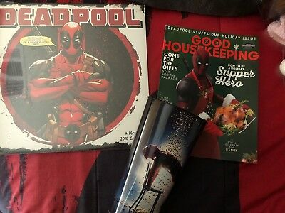 Deadpool Good Housekeeping December 2017 Holiday Movie Issue promo cup calendar