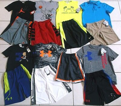 Boy's Size Meduim Under Armour Heatgear & Nike Summer Clothing Lot In Euc & Nwt!