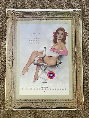 1970 Harolds Club Casino Calendar Poster Pinup Girl by Fritz Willis Reno Nevada