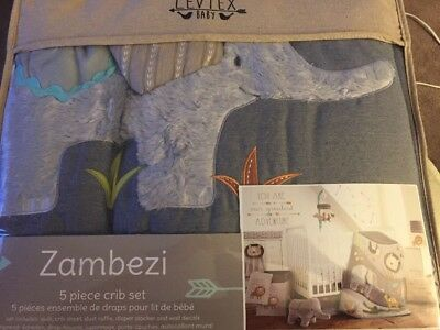 NEW! Levtex Baby Zambezi 5 Piece Bedding Set Model:A7B4F943