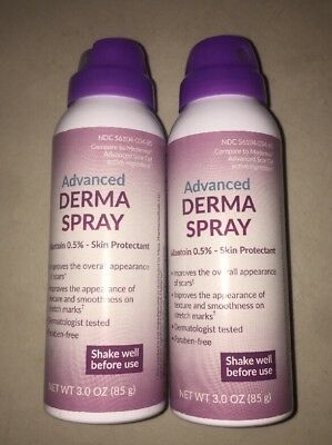 2 Can Advanced Derma Spray Improves Appearance Of Scars & Stretch Marks 3oz Each