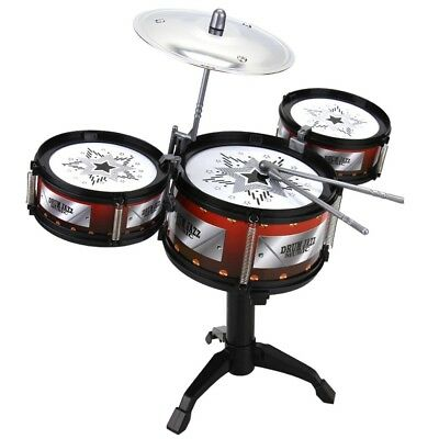 Kids' Drum Set Toy Simulated Educational Musical Instrument Set Music Play Toy