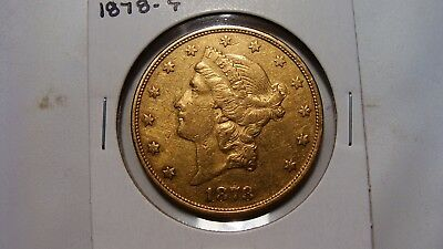 1878-S $20 Liberty Double Eagle Gold    XF
