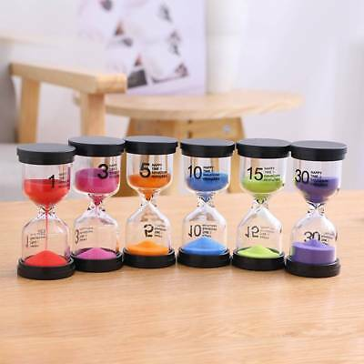 7 Colors Colorful sand glass sandglass hourglass timer 1/3/5/10/15/30 minutes