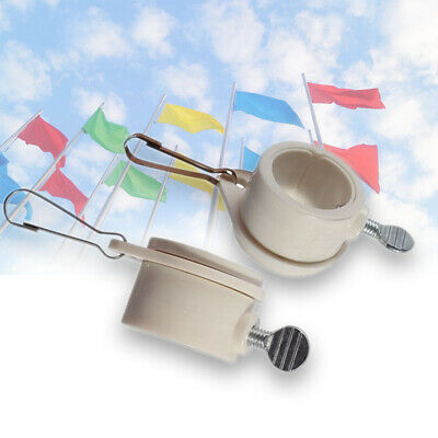 Flag Pole Rotating Mounting Rings Grommet Flagpole Clips Never Furl UP Plastic