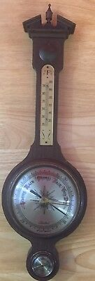 Vintage Wood Weather Station Banjo Style Tradition Brand Western Germany Sears