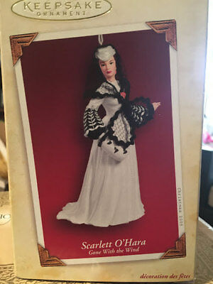 NEW n Box 2005 Hallmark Ornament Scarlett O'Hara Honeymoon Dress  Gone with Wind