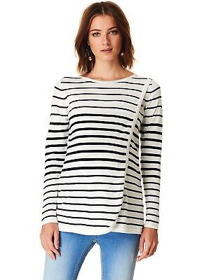 NEW - Esprit - Striped Cross Front Nursing Maternity Jumper