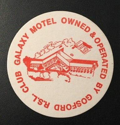 Vintage Gosford Rsl Club Drink Coaster Galaxy Motel