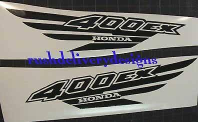 400ex honda Decals ATV Graphic Gen1 Gloss BLACK Quad Pick Any Color 12pc sticker