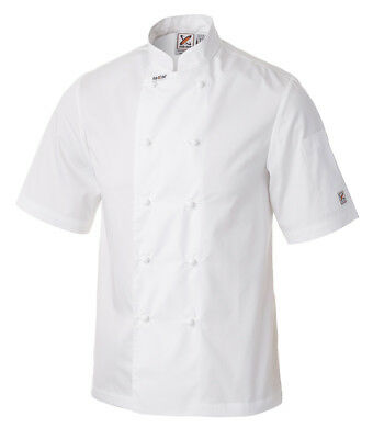 5 x Traditional Short Sleeve Chef Jackets in White by Club Chef
