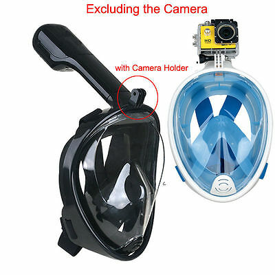 Anti-Fog Full Face Mask Swimming Underwater Diving Snorkel Scuba For GoPro Glass