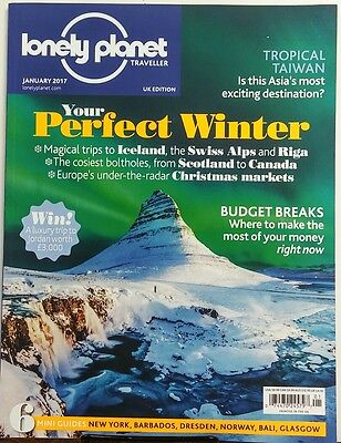 Lonely Planet Traveller UK Jan 2017 Your Perfect Winter Iceland FREE SHIPPING sb