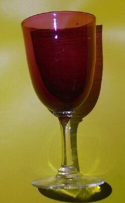 Early Cranberry Red Wne Glass
