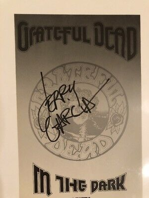 Grateful Dead Arista Record Company Letter Head Autographed  By Jerry Garcia