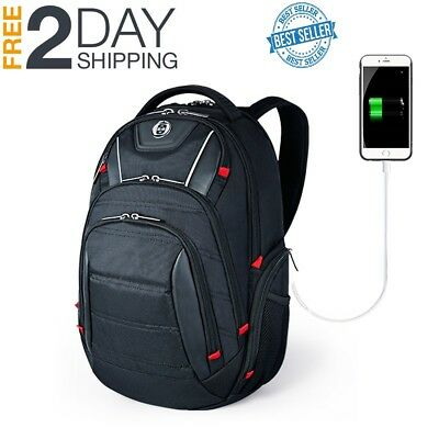 HOT DEAL Busniess Travel Laptop Backpack with USB Charging Port RFID Protection