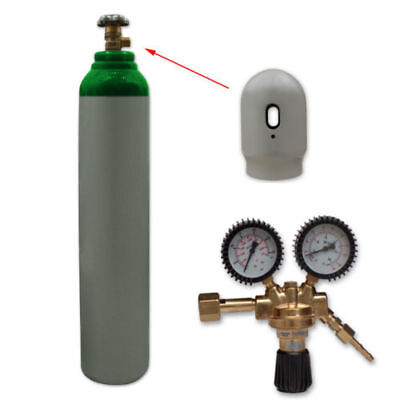 Argon Gas Bottle Cylinder New! Full 1.8m3 8L 200 Bar + Regulator