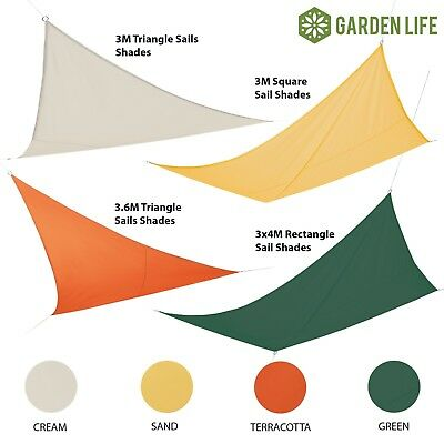 Garden Life Sun Shade Sail Waterproof Canopy UV 98% Sunscreen Patio Awning Cover