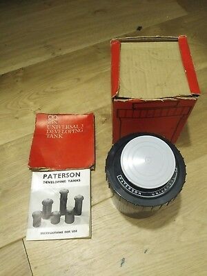 Patterson Universal 3 film developing tank for 35mm,127, 120,620, 16mm boxed
