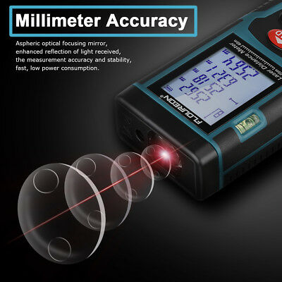 40M LCD Digital Auto Laser Distance Meter Range Finder Tape Measure Diastimeter