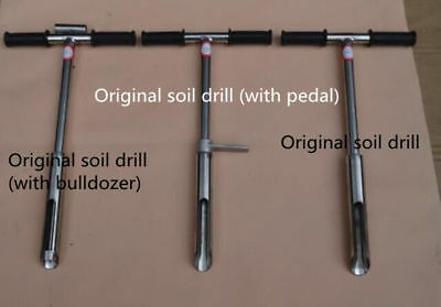 1m original soil borrowing drill 304 stainless steel soil sampler without pedal