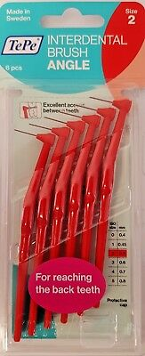 TePe Angle Interdental Brush - Pack of 6 Brushes | VARIOUS SIZES | FAST&FREE |