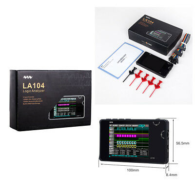 New Mini LA104 Logic Analyzer 4 Channels 20xDuPont Cable 5xHook Max 100Mhz