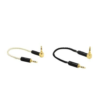 Lovoski 2x 3.5mm Stereo 90° Male To Male Car Aux Auxiliary Audio Cable Cord