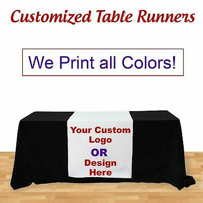 Custom Table Runner for Table Tradeshow, Table Cover not Included, 3' X 5.67'
