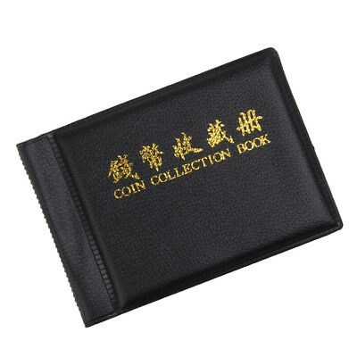 Album Pocket Wallet Currency Penny Money Coins Book 60 Holders 10 Page Black