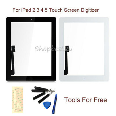 For iPad 2 3 4 5 Touch Screen Glass Digitizer+Tool+Button Replacement Assembly