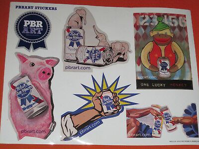 PABST BLUE RIBBON PBR ART Creation STICKER decal Page craft beer brewery brewing