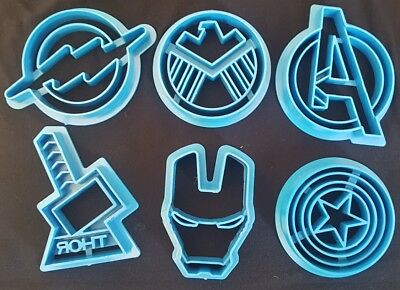MARVEL SUPERHERO Set of 6 COOKIE FONDANT CUTTER CAKE DECORATING SUPPLIES DC