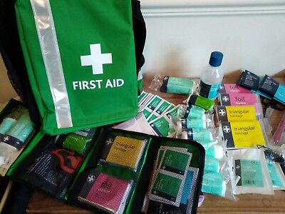 first aid kit rucksack grab bag school trip medical massive content brand new