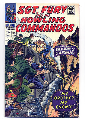Sgt. Fury and His Howling Commandos #36 F/VF 1966 ~ Marvel Comic Book
