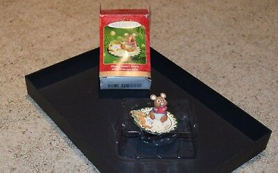"Hallmark 2001 ""Sharing Santa's Snacks"" Christmas Ornament in box"