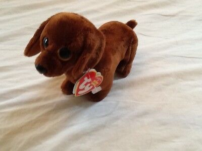 "Ty Beanie Baby Babies Frank the Dachshund Dog 8"" (2012 Big Eyed Version)"