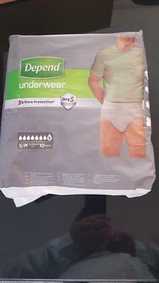 CHEAPEST ON EBAY 12 x 10-PACKS Depend Incontinence 120 Pants Men Male Super S/M