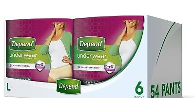 CHEAPEST ON EBAY 12 x 10-PACKS Depend Incontinence 120 Pants FOR WOMEN Super S/M