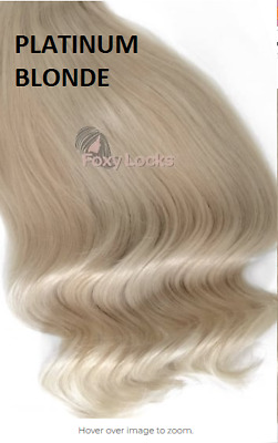 blonde foxy locks 100% human hair extensions 240g 24""