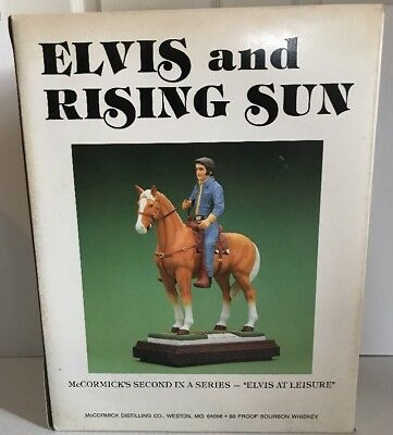 """McCormick Elvis And Rising Sun-""""Elvis At Leisure"""" Whiskey Decanter-w/box"""