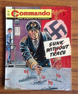 Commando war comic No 93, Sunk Without Trace, Printed November 1963
