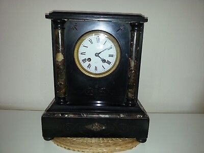 Marble French Mantle Clock 1890 Made for Paris Exhibition