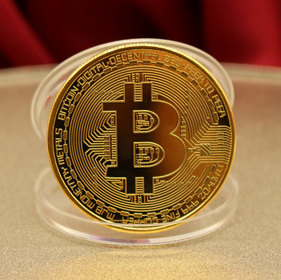 Round Iron Bitcoin Physical Rare Collectible Coin BTC Gold Plated Gift Currency