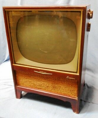 Vintage RCA Victor Super Television (TV) 21-T-8375U For Parts or Repair