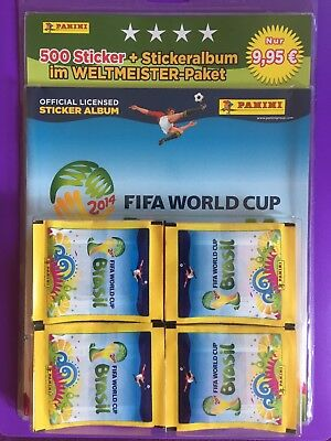 Panini FIFA World Cup WM 2014 Brasil - 100 Tüten + Album Paket Display