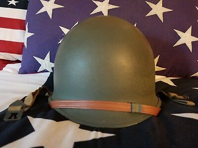WWII US McCord Fixed Bale Front Seam M1 Helmet Westinghouse Liner USMC Army Name